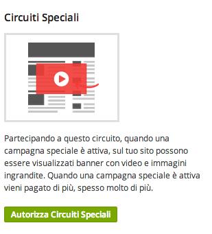 Partecipa ai circuiti speciali