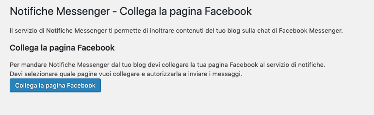 altervista notifiche messenger collega la pagina