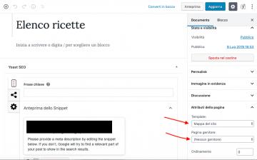 Come creare un elenco alfabetico con l'editor a blocchi