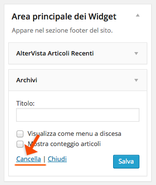 cancella-widget