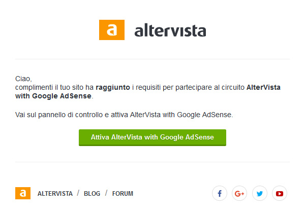 usa google adsense su altervista